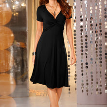 Load image into Gallery viewer, V Neck Casual Party Dress - The Fashion Bliss By VL Enterprises