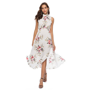 Floral Printed Sleeveless Dress - The Fashion Bliss By VL Enterprises