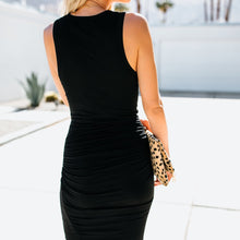 Load image into Gallery viewer, V-Neck Sleeveless Midi Dress - The Fashion Bliss By VL Enterprises