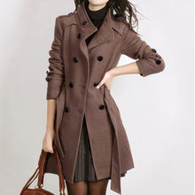 Load image into Gallery viewer, Warm Long Sleeve Jacket Coat With Belt - The Fashion Bliss By VL Enterprises