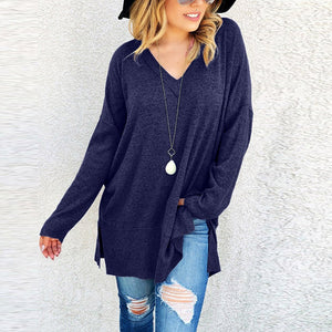 Casual Long Sleeve Sweater - The Fashion Bliss By VL Enterprises