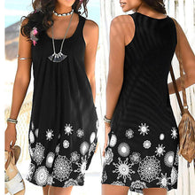 Load image into Gallery viewer, Sleeveless Printed Casual Dress - The Fashion Bliss By VL Enterprises