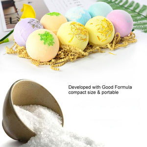 8pcs Essential Oils Bath Bombs Multi-color - The Fashion Bliss By VL Enterprises