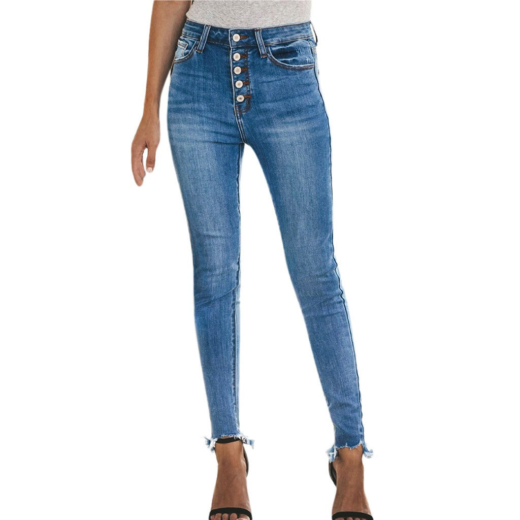 Hight Waist Stretch Denim Jeans - The Fashion Bliss By VL Enterprises