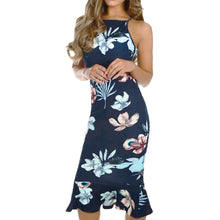 Load image into Gallery viewer, Floral Party Midi Dress - The Fashion Bliss By VL Enterprises