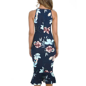 Floral Party Midi Dress - The Fashion Bliss By VL Enterprises
