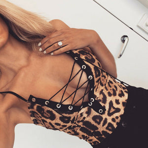 V-Neck Leopard Bodysuit - The Fashion Bliss By VL Enterprises