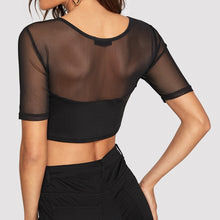 Load image into Gallery viewer, Sexy O-Neck Short Sleeves Crop Top - The Fashion Bliss By VL Enterprises