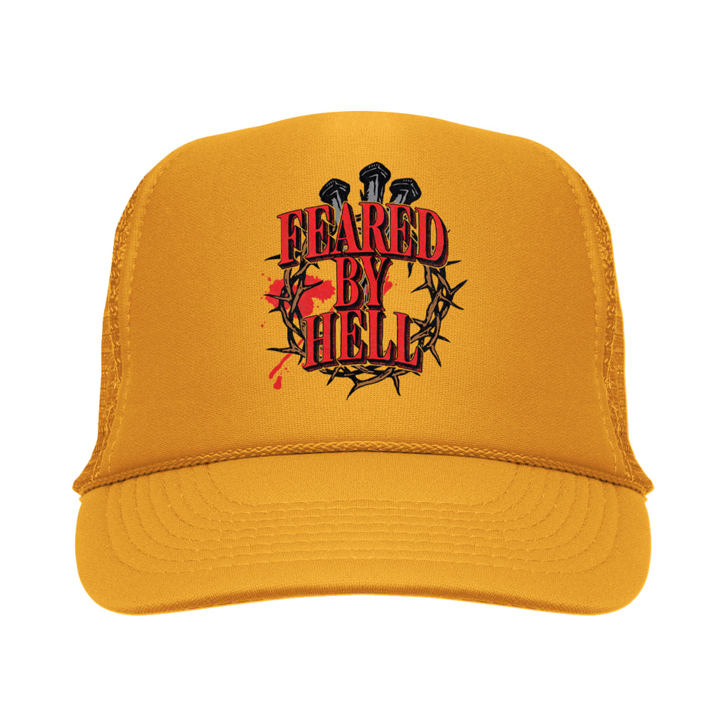 Feared By Hell - Crown Of Thorns - Yellow Trucker Hat