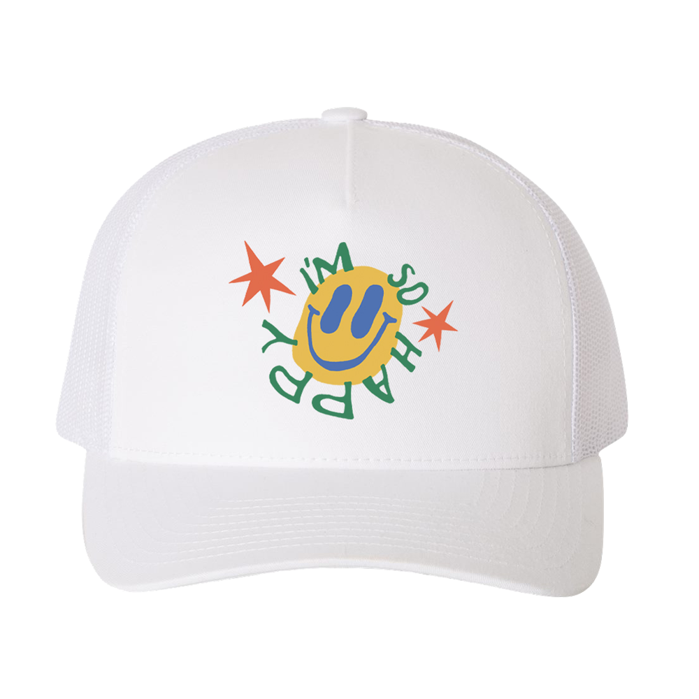 I'm so happy - White Trucker Hat