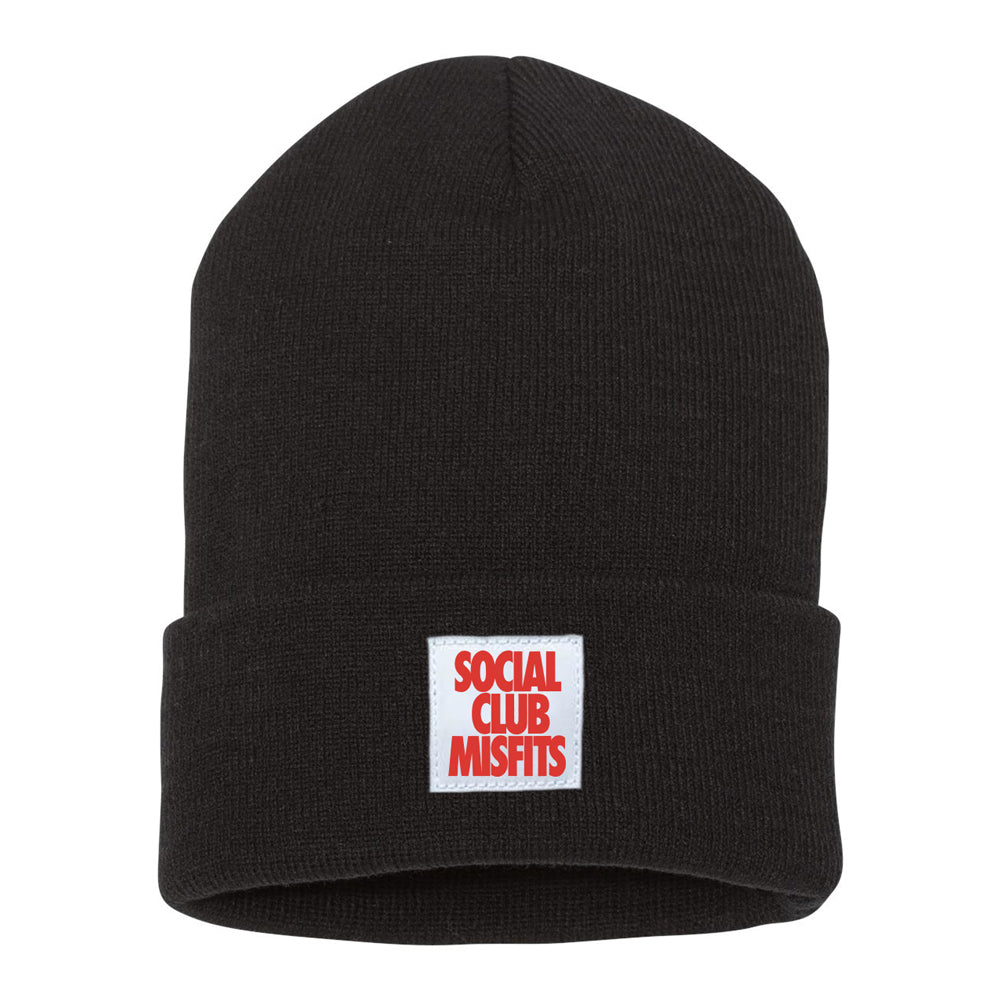 Social Club Misfits Stacked - Black Beanie