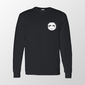 Quarantine Pug Long Sleeve - Black