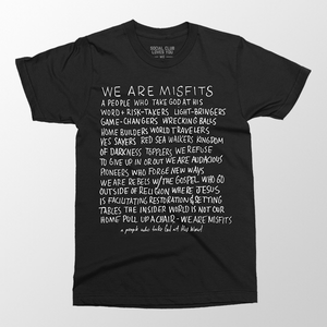 We Are Misfits Lyric Tee - Black
