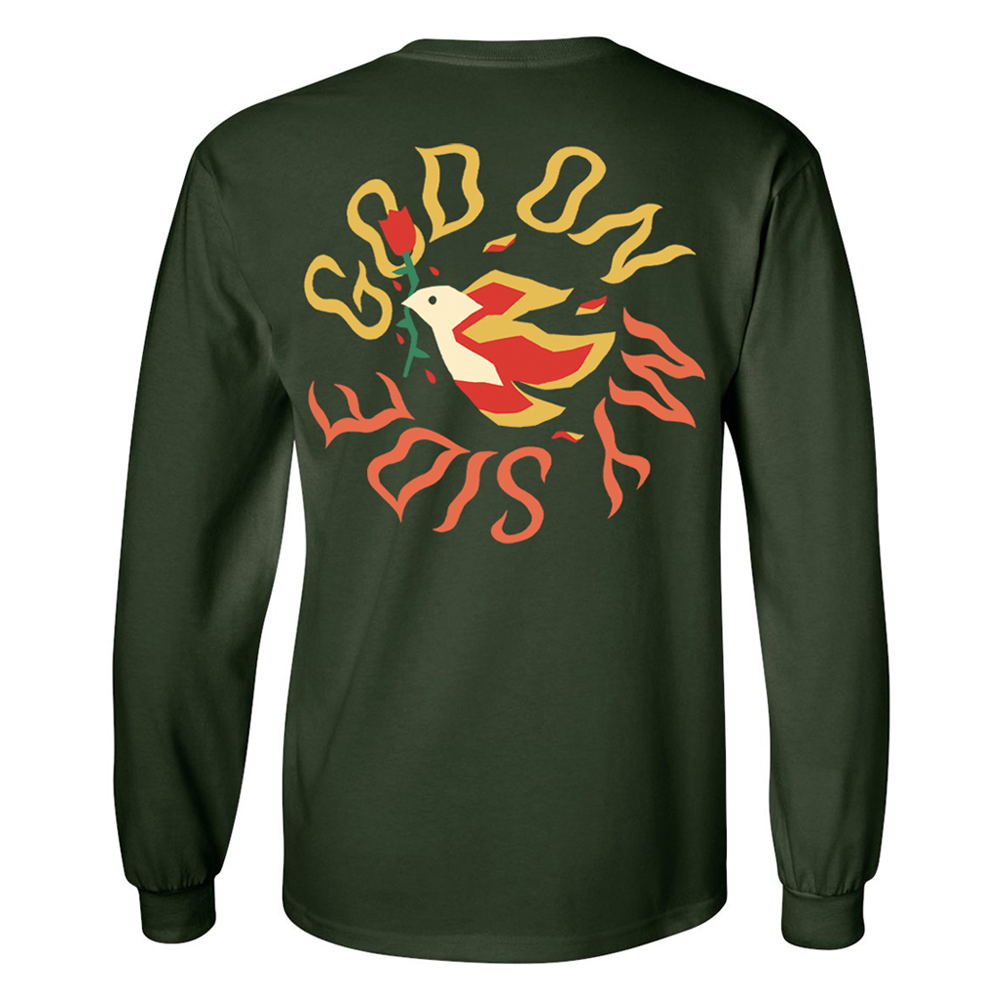 God On My Side - Green Long Sleeve