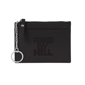 Feared By Hell Stacked - Black Leather Chain Wallet