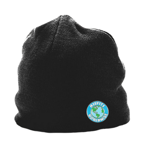 Misfit Beanie With Worldwide Pin