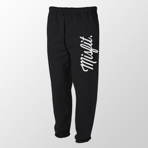 Black Misfit Sweatpants