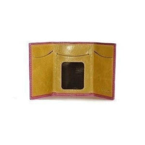 Cartera fuxia y amarillo mostaza, desplegable, slim 0.9 cms, Icon Piamonte 950 - piamontemadrid