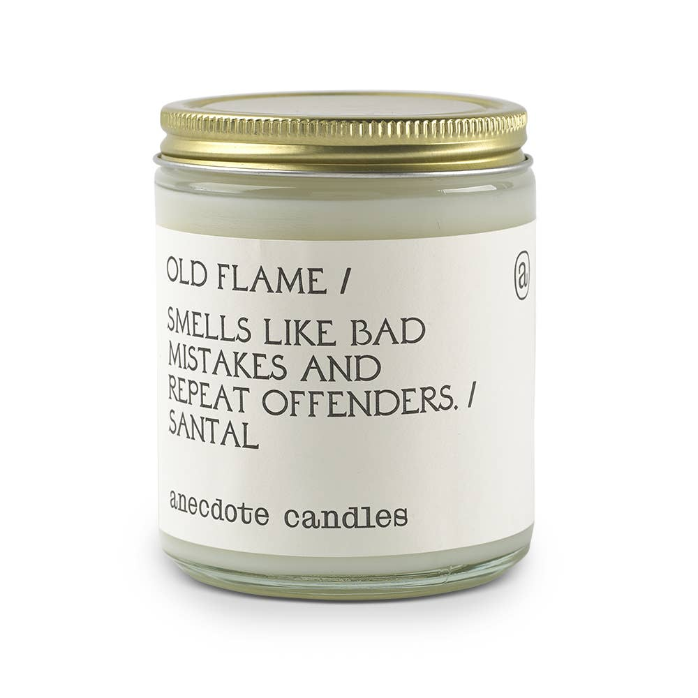 Old Flame (Santal) Glass Jar Candle