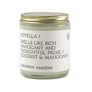 Novella (Mahogany & Coconut) Glass Jar Candle