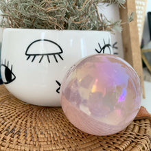 Load image into Gallery viewer, Angel Aura Rose Quartz Sphere