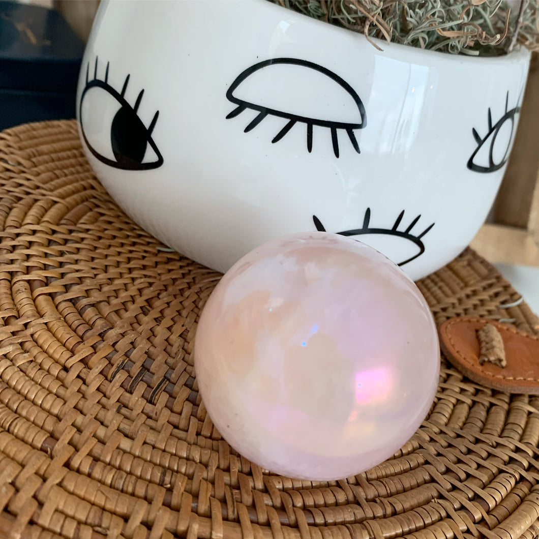 Beautiful Rose Quartz Sphere