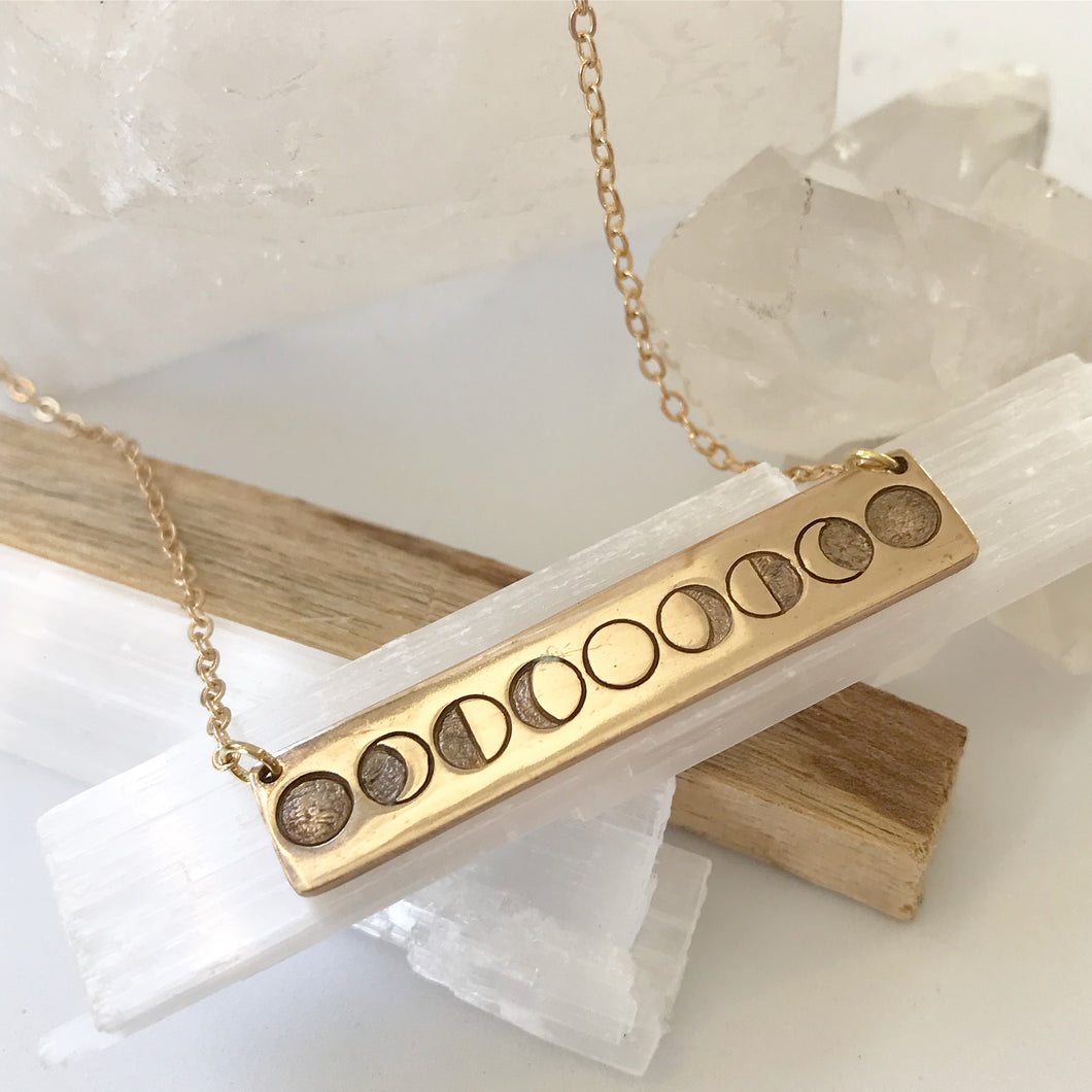 Phases Necklaces Bronze