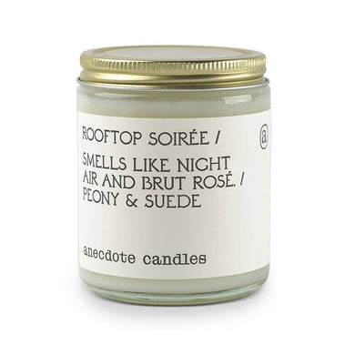 Rooftop Soirée (Peony & Suede) Glass Jar Candle