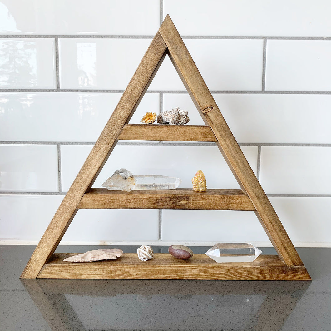 Danielle F. Woodword Spruce Triangle Shelf