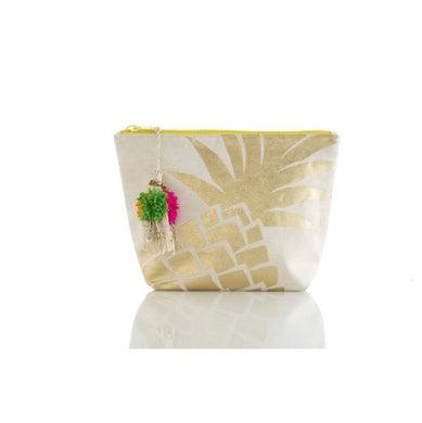 Gold Pineapple Cosmetic Pouch