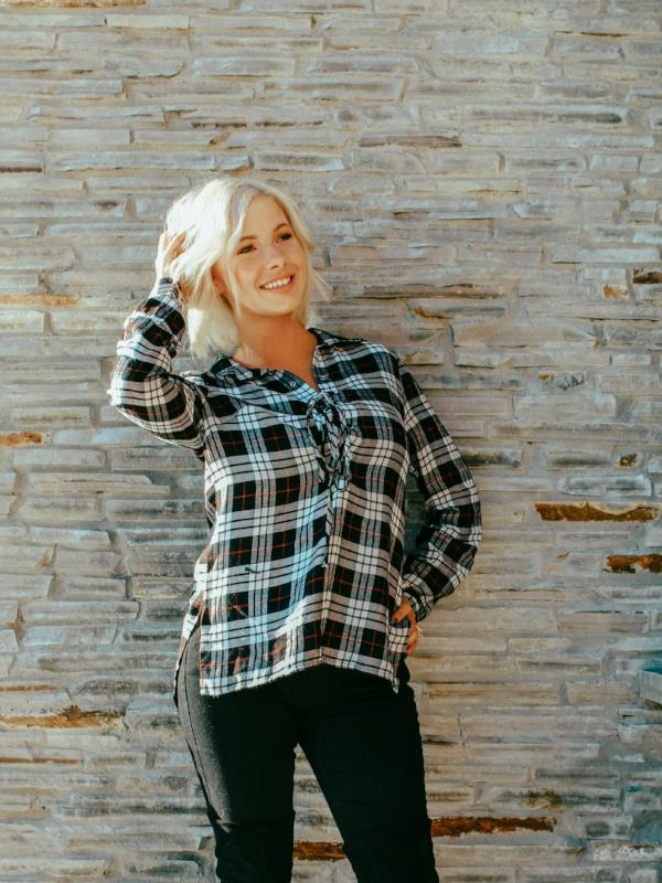 Winter Plaid Top