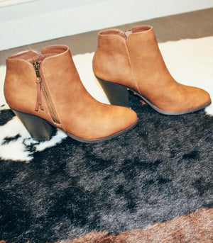 Tan Pleather Booties