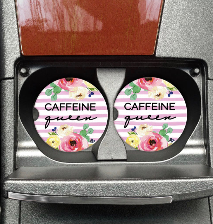 Caffeine Queen Car Coaster