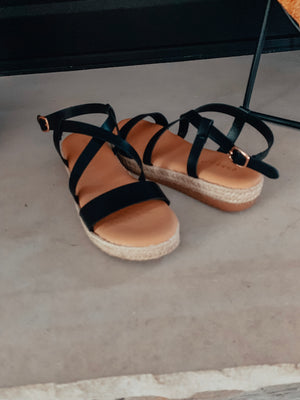Black Bamboo Sandals