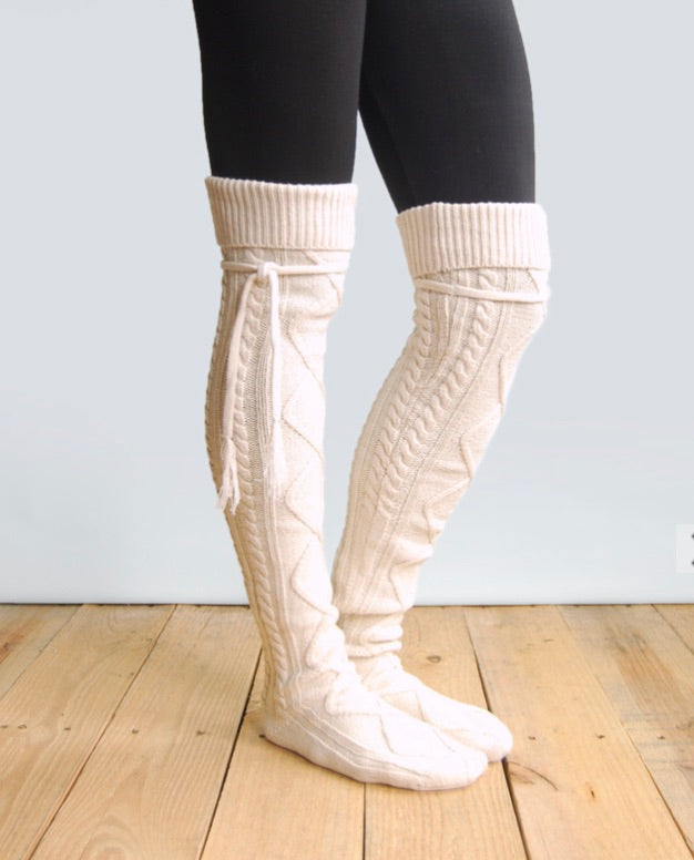 Knitted Thigh High Boot Socks