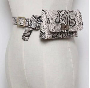 Blush Python Belt Bag