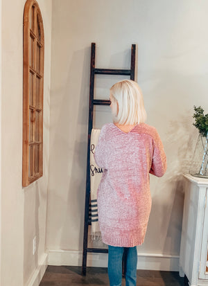 Blush Chenille Knit Cardigan