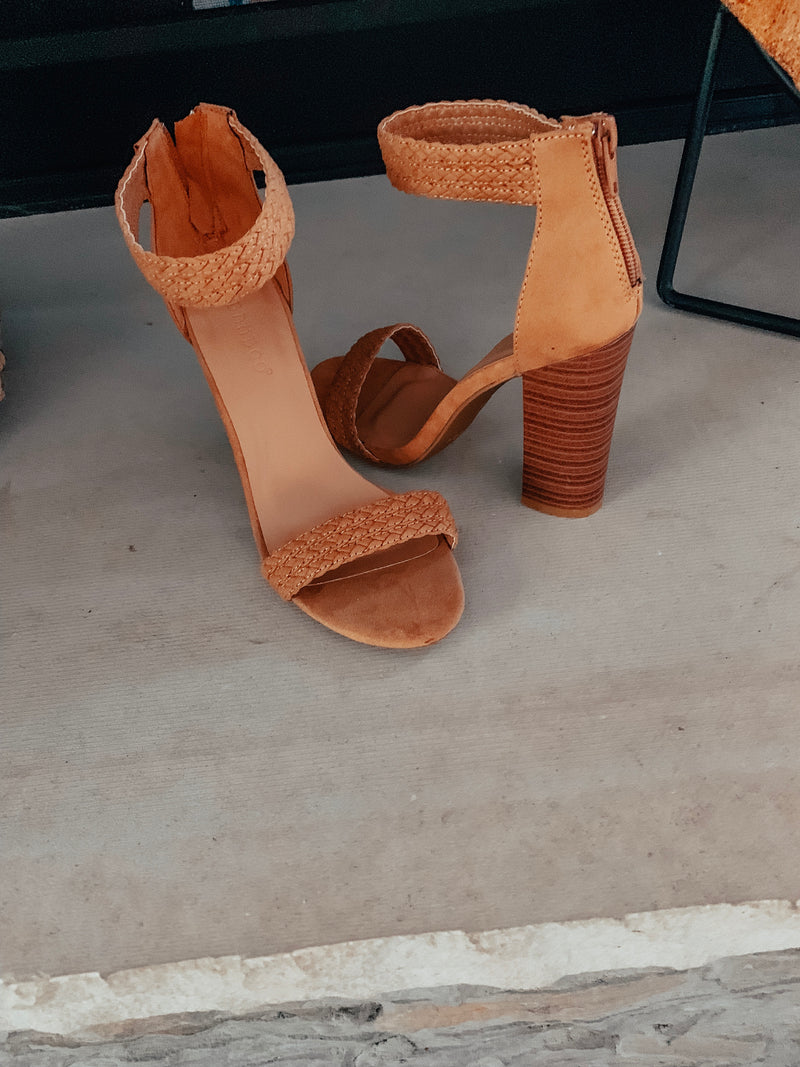 Tan Braided Sandals