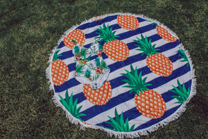 Pineapple Round Beach Towel