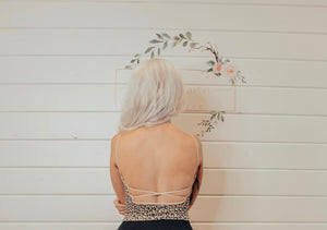 Leopard Crop Tank With Back Detail