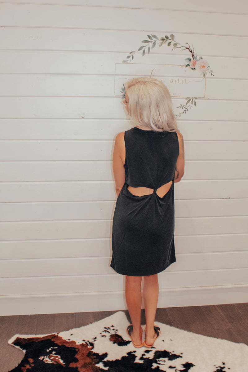 Black Dress With Back Cutout Detail