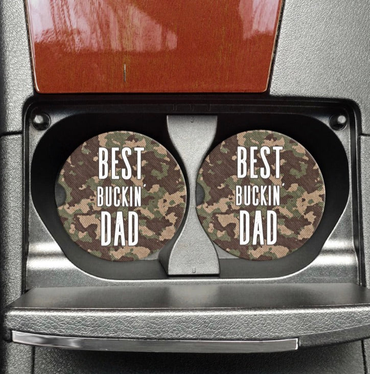 Best Buckin Dad Car Coaster