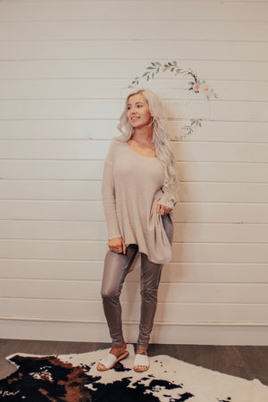 Taupe light Weight Long Sleeve