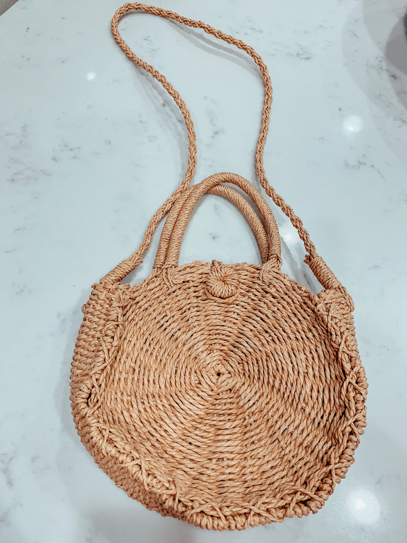 Hand Woven Straw Purse