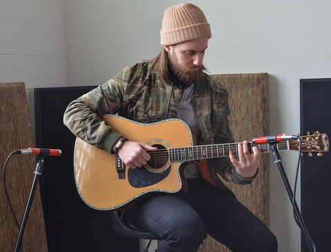 Spaced Pair Microphone Technique for Recording Acoustic Guitar
