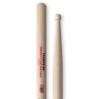 Vic Firth VF5A Hickory Drumsticks - 5A - Wood Tip