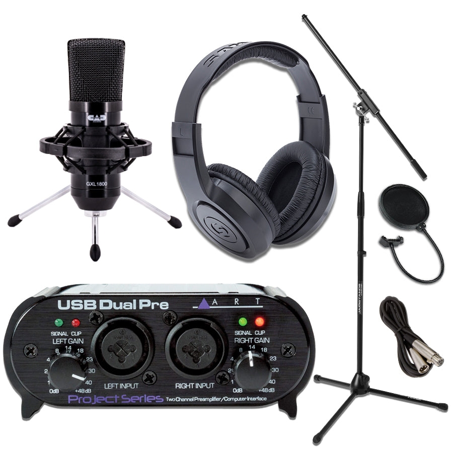 Home Studio Bundle ART Dual Pre USB Interface GXL1800
