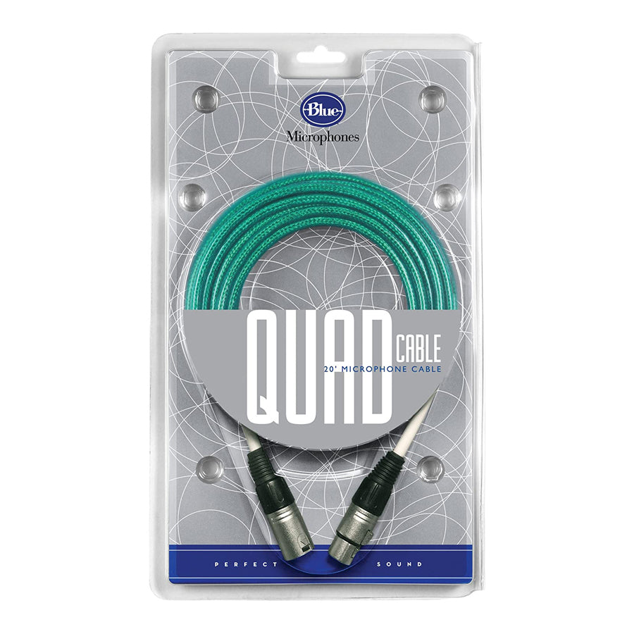 Blue Quad Cable 20' Microphone Cable