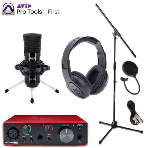 Focusrite Solo Gen 3 GXL1800 with Pro Tools First Essentials Bundle