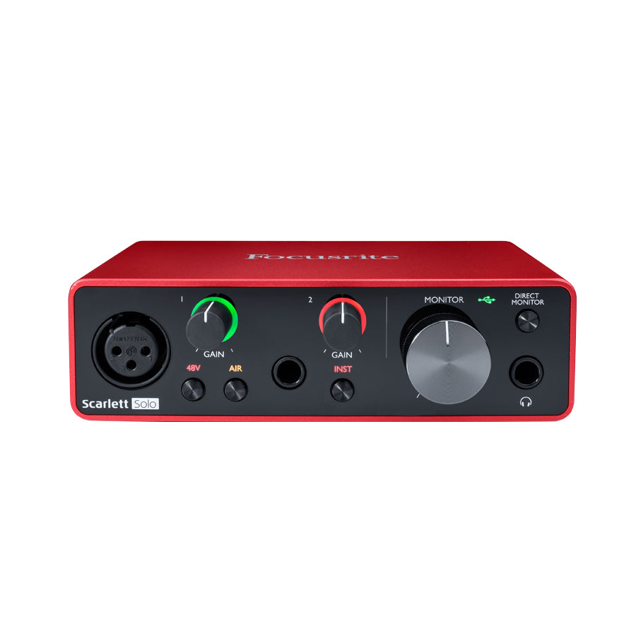 Focusrite Scarlett Solo 3rd Gen USB Audio Interface and AT2020 Essentials Bundle